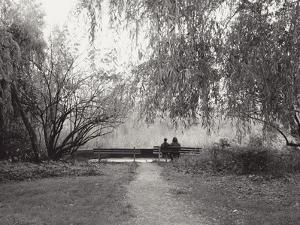 Two People on a Park Bench by Sharon Wish