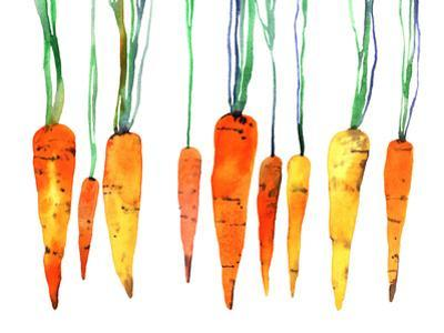 Watercolor Hand Painted Carrot by shat88