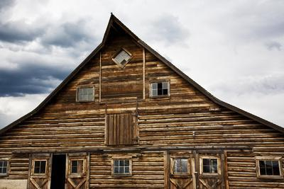Traditional Barn On A Wyoming Ranch, USA, North America