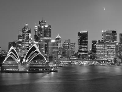 Australia, New South Wales, Sydney, Sydney Opera House, City Skyline at Dusk by Shaun Egan