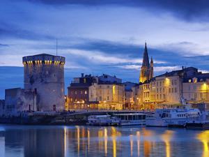 France, Poitou-Charentes, La Rochelle, Town Reflected in Harbour at Dusk by Shaun Egan