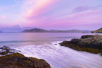 Ireland, Co.Donegal, Fanad, Ballymastoker bay at dusk by Shaun Egan
