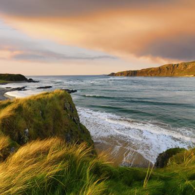 Ireland, Co.Donegal, Inishowen, Doagh beach at dusk by Shaun Egan