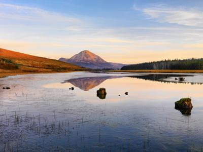 Ireland, Co.Donegal, Mount Errigal reflected in Clady river by Shaun Egan