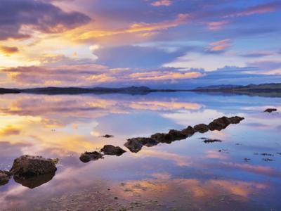 Ireland, Co.Donegal, Mulroy bay, Stepping stones at dusk by Shaun Egan