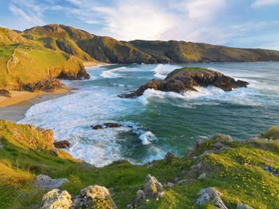 Ireland, Co.Donegal, Rosguil, Boyeeghter Bay overview by Shaun Egan