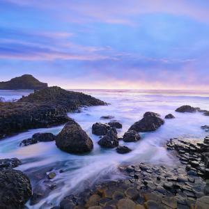 Northern Ireland, County antrim, Giants causeway at dusk by Shaun Egan