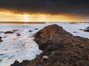 Northern Ireland, County antrim, Giants causeway at sunset by Shaun Egan