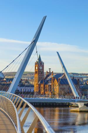 Northern Ireland, County Derry, Peace bridge by Shaun Egan