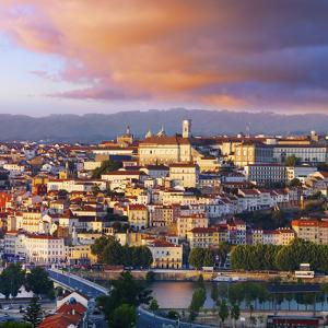 Portugal, Coimbra, Overview at Dusk(Mr) by Shaun Egan
