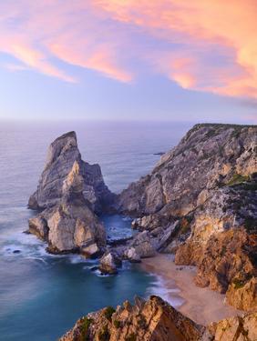 Portugal, Estramadura, Ursa , Seascape at Dusk by Shaun Egan