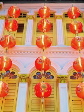 Singapore, Singapore City, Chinatown, Lanterns at Dusk by Shaun Egan