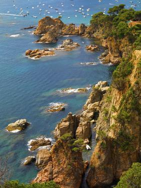 Spain, Catalonia, Costa Brava, Tossa De Mar, Overview of Bay by Shaun Egan
