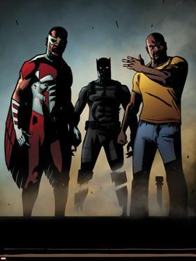 Black Panther: The Most Dangerous Man Alive No.526: Falcon, Black Panther, and Luke Cage by Shawn Martinbrough