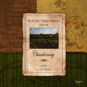 Chardonnay Wine Label by Shawnda Craig