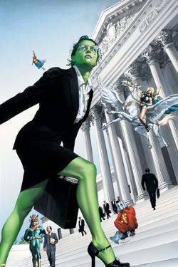 She-Hulk No.7 Cover: She-Hulk and Valkyrie Fighting