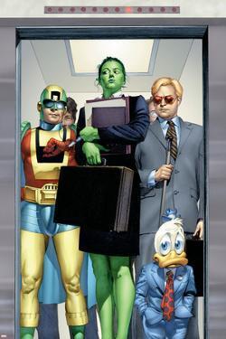 She-Hulk No.8 Cover: She-Hulk, Howard the Duck, Murdock and Matt