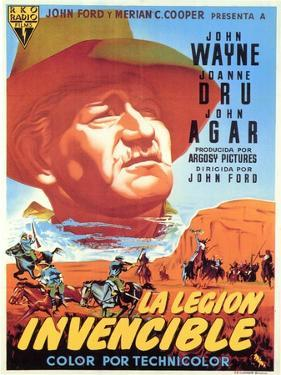 She Wore a Yellow Ribbon, Spanish Movie Poster, 1949