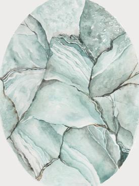 Aquamarine Stone by Shealeen Louise