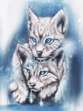 Blue Winter Lynx by Sheena Pike Art And Illustration