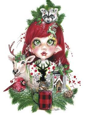 Cozy Christmas Claire - MunchkinZ Elf by Sheena Pike Art And Illustration