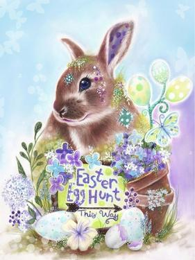 Easter Bunny Egg Hunt by Sheena Pike Art And Illustration