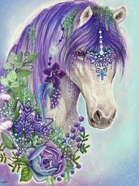 Gypsy Violet Horse by Sheena Pike Art And Illustration