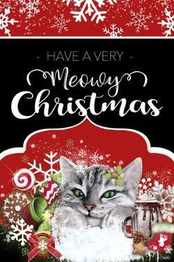 Have a Very Meowy Christmas - Flag Sign by Sheena Pike Art And Illustration