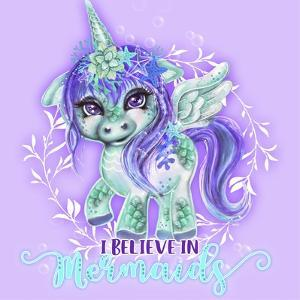 I Believe in Mermaids CutieCorn by Sheena Pike Art And Illustration