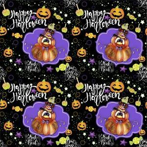 Jack O Man 3 - Halloween Pattern by Sheena Pike Art And Illustration