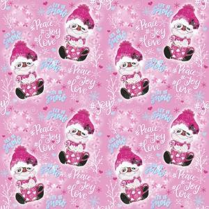 Pink Snowman Pattern by Sheena Pike Art And Illustration