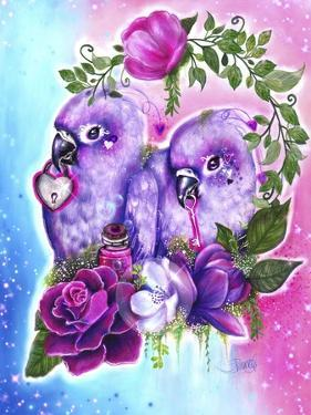 Still Together Love Birds by Sheena Pike Art And Illustration