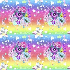 Unicorn Rainbow Ombre Pattern by Sheena Pike Art And Illustration
