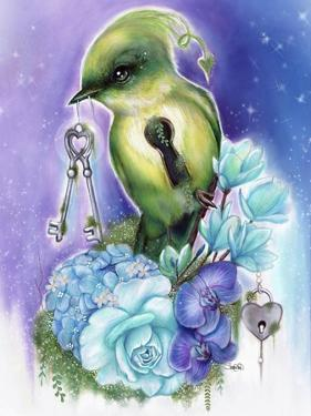You Hold the Key Love Birds Collection by Sheena Pike Art And Illustration