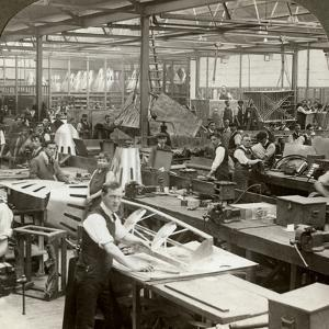 Sheet Metal Workers at a Aeroplane Factory, World War I, 1914-1918