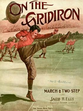 """Sheet Music Covers: """"On the Gridiron"""" Composed by Jacob H. Ellis, 1911"""