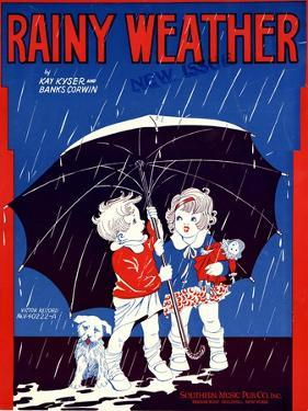 """Sheet Music Covers: """"Rainy Weather"""" Music and Words by Kay Kyser and Banks Corwin, 1930"""