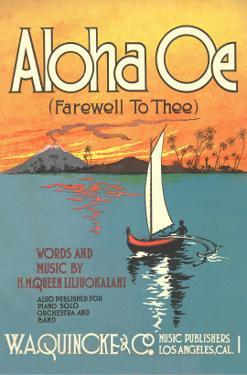 Sheet Music to Aloha Oe
