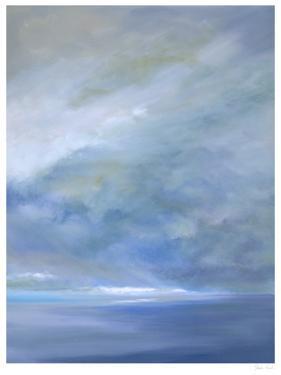 Heavenly Light Triptych III by Sheila Finch