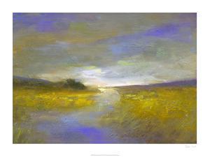 Mustard Fields at Dusk by Sheila Finch