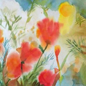 Orange Poppy Reverie by Sheila Golden