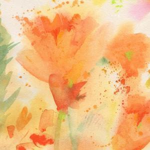 Windblown Poppies #2 by Sheila Golden