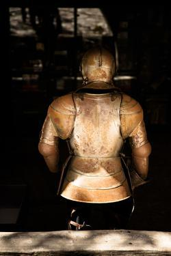 A Medieval Knights Armor Shining in the Sunlight by Sheila Haddad