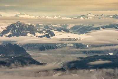 Aerial View of Part of Aleutian Mountain Range in Summer by Sheila Haddad