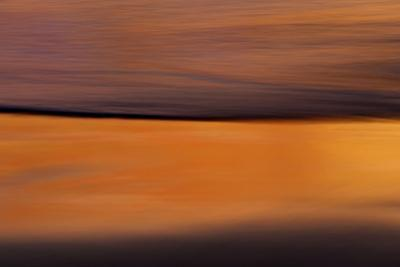 California Long Exposure Wave at Sunset by Sheila Haddad