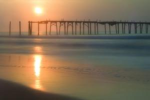 Cape May, New Jersey, USA, morning, pier, sunrise by Sheila Haddad