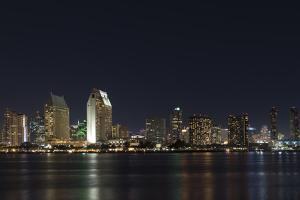 City lights of San Diego, California by Sheila Haddad