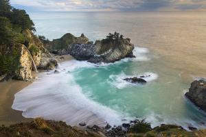 Cove at McWay Falls at sunset, Julia Pfeiffer Park, Big Sur. by Sheila Haddad