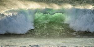 Crashing Waves, Carmel, Ca, USA, Green Translucence by Sheila Haddad