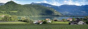 Kaltern Lake, Italy, Wine Country Panorama by Sheila Haddad